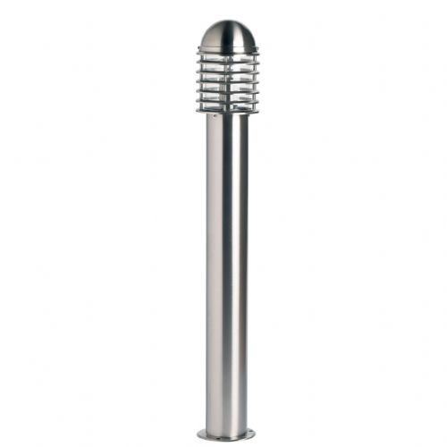 Polished stainless steel & clear Polycarbonate Bollard YG-6003-SS by Endon